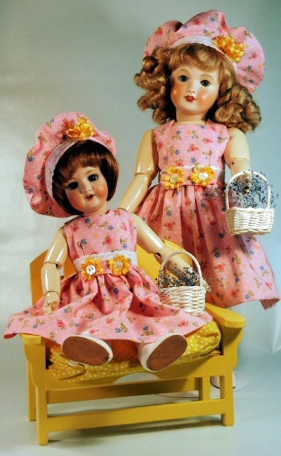 Bleutte and Rosette patterns for doll clothing - ROBE 1959, La Semaine de Suzette