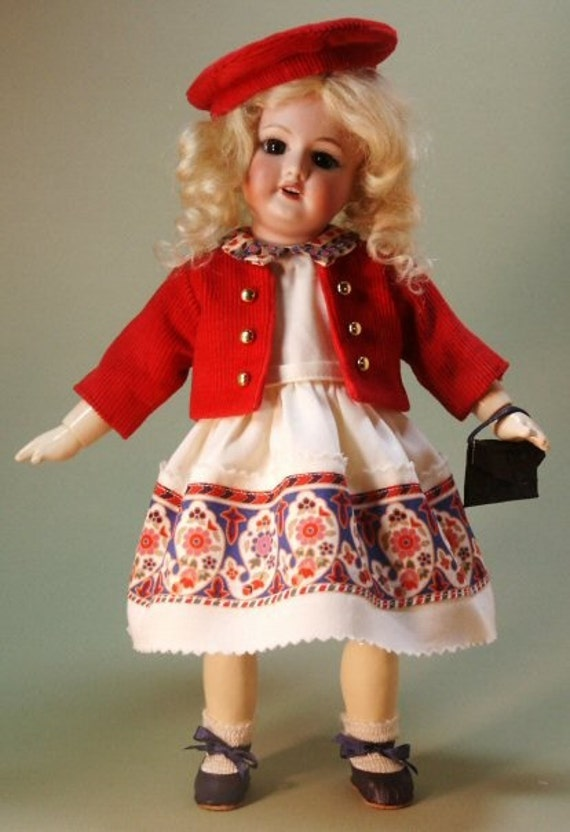 Bleuette pattern for doll clothing - ORIENTALE and EVASION, Gautier Languereau styles from 1955 - Dress, Jacket and Beret
