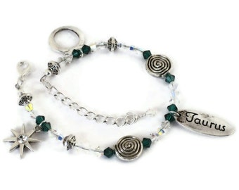 Taurus Zodiac Bracelet, April May Birthday, Gifts for Women Mom Wife Sister Daughter Grandma Under 30, Memorable Gifts, Stocking Stuffers