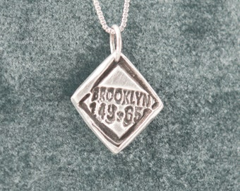 Brooklyn Pendant Necklace, Brooklyn, New York Charm, Brooklyn Necklace