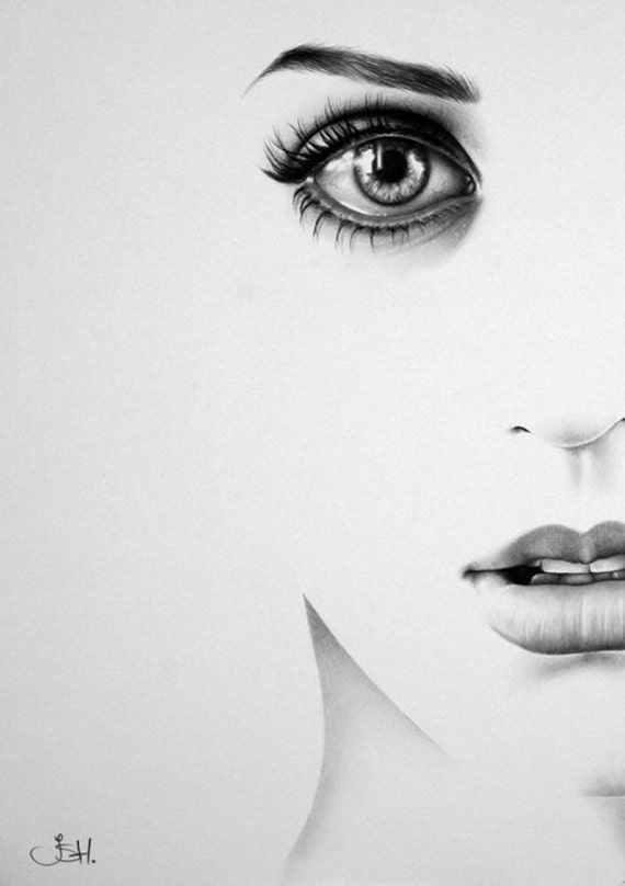 Katy Perry Minimalism Half Series Original Pencil Drawing Fine Art Portrait SALE