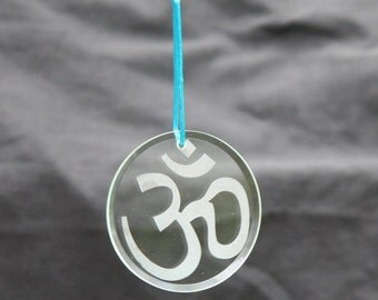 Glass Ornament - Om