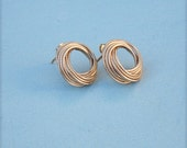 Reserved ~  Balance for Vintage 14k Gold Love Knot Post Earrings