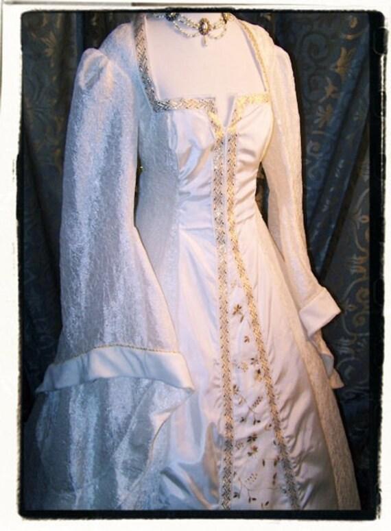 SALE Princess Bride Tudor Court Renaissance Medieval Wedding Dress Bust 40