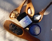 Lavender Face Scrub - a gentle organic facial cleanser and exfoliant rich in alpha-hydroxy acids (1.7 oz cobalt blue glass jar)
