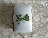 French Limoge Ceramic Souvenier Box Handpainted Signed Chantilly France