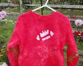 Kids Football Shirt, Football Kids Shirt, Red Football Shirt, Boys Football Shirt, Girls Football Shirt, Long Sleeve Kids Shirt (4/5) SALE