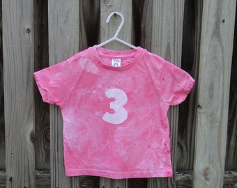 Third Birthday Shirt, Pink Third Birthday Shirt, Girls Third Birthday Shirt, Pink Birthday Shirt, 3rd Birthday Shirt (3T) SALE