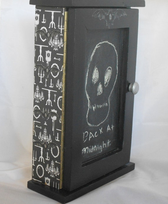 Gothic Home - Key Cabinet - Chalkboard Door - Message Center