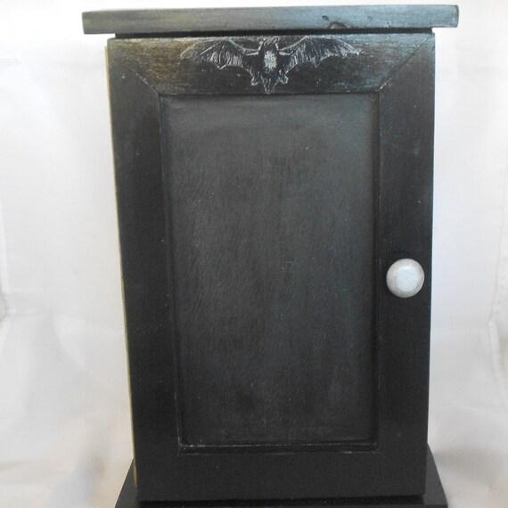 Home Decor Chalkboard: Gothic Home Key Cabinet Chalkboard Door By NacreousAlchemy