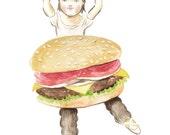 Fine art print -- Hamburger Girl