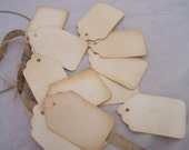 Wild West Old Fashion Wedding favor  tags hanging string labels perfect for Antique shops and Vintage resale Large lot