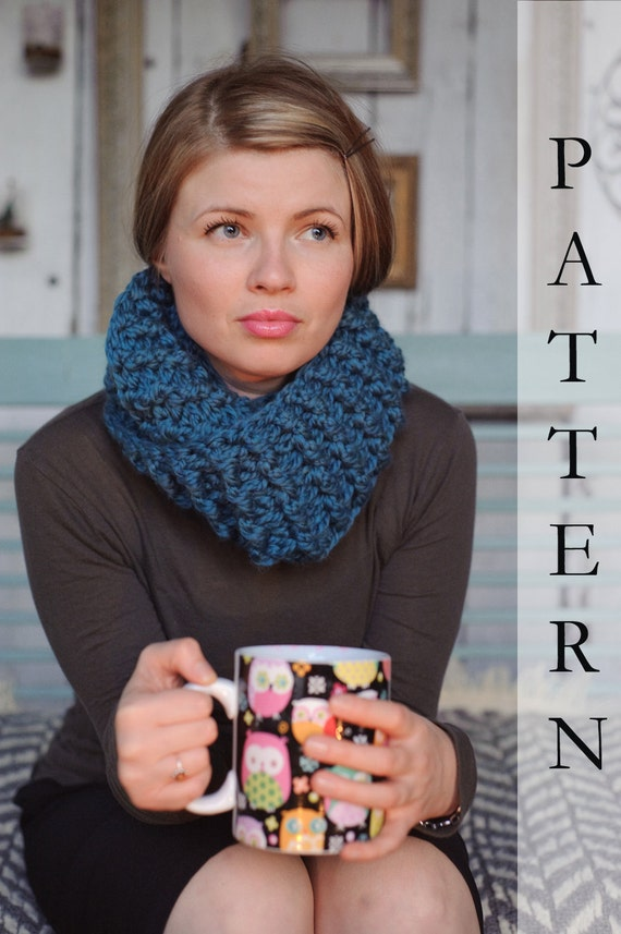 Infinity Scarf PATTERN, instant download, Chunky scarf pattern, PDF, permission to sell