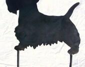 Scotty Dog Scottish Terrier Metal Art Yard Decor Garden Stake