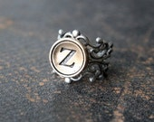Personalized Typewriter Key Ring