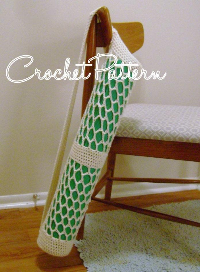 Yoga Mat Bag pattern crochet PATTERN ONLY
