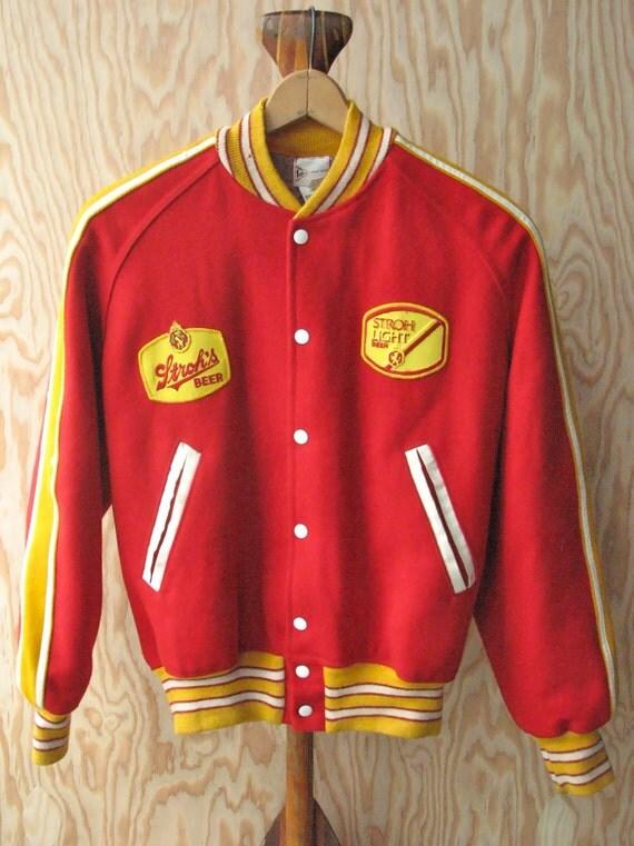 SALE // Vintage Stroh's Varsity Jacket