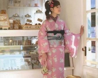 Making Casual Kimono & Yukata Patterns, Yumi Yamamoto - Japanese Craft Book,  Girly, Feminine Kimono Patterns, Easy Sewing Tutorial - B548