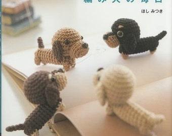 Crochet Amigurumi Patterns - Ami Ami Dogs Vol.1, Mitsuki Hoshi, Japanese Crochet Pattern Book for Kawaii Amigurumi Doll, Easy Tutorial, B106