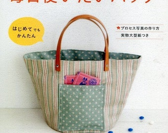 Daily Casual Bag Patterns - Japanese Sewing Pattern Book For New Sewer - Tote Bag, Granny Bag, Shoulder Bag, Easy Sewing Tutorial, B769