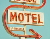 5x7 STAR MOTEL Retro Neon Sign - Fine Art Photo Print