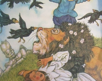 The Wizard of Oz VINTAGE Childrens Book Illustrated by Michael Hague