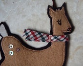 Christmas Felt Ornament Rudolph the Red Nosed Reindeer