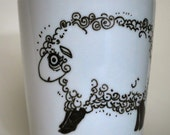 Original Drawing on Mug  - Java Lamb