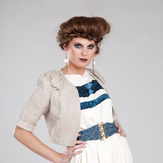RESERVED for ANITA - Sevigny Blazer - Organic fashion crop jacket