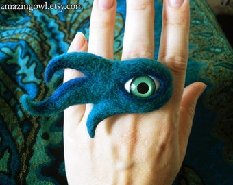 Watching You - Mysterious Mad Eye Ring - Custom Made For You
