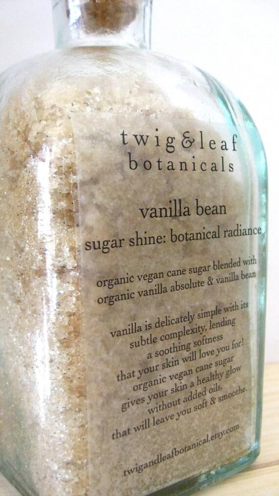 organic vanilla bean bath therapy bath salts twig & leaf botanicals