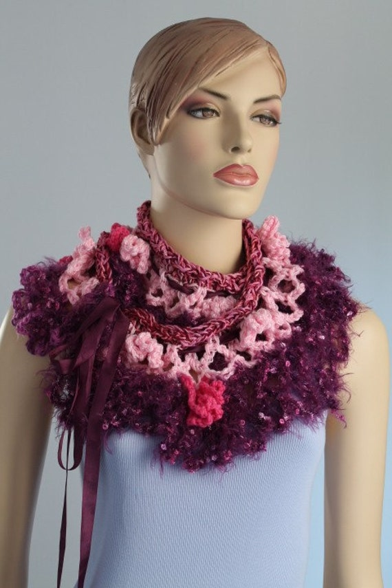 Multicolor Crochet   Scarf /  Fall Fashion