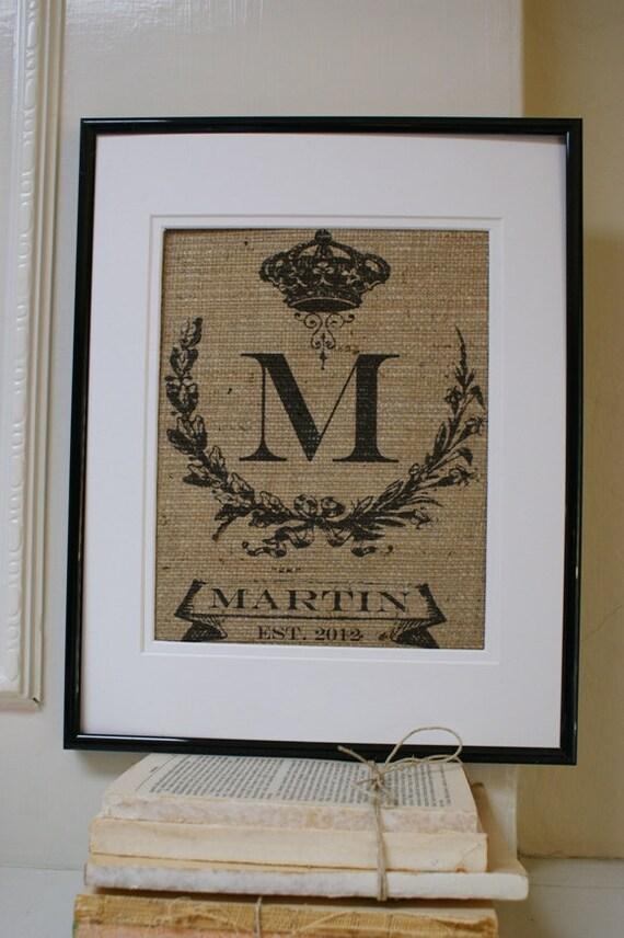 ORIGINAL...Personalized Heirloom Royal Monogram for Engagements, Weddings, Birthdays, etc. Artwork Only.
