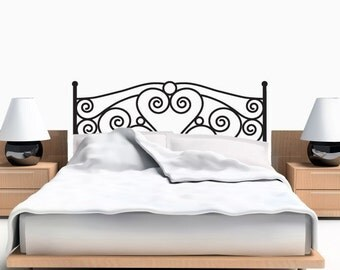 Exceptionnel Headboard Wall Decal   Scroll Headboard Wall Sticker   Twin Size