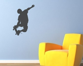 Skateboarder Decal - Children Wall Decals - Boy Wall Sticker - 1