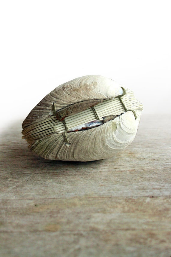 Offering No. 96- Handstitched Clamshell Book Sculpture