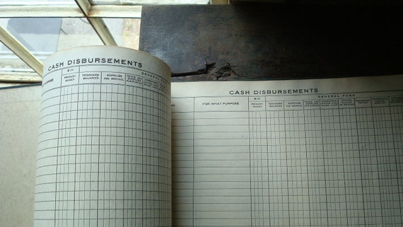 vintage journal , 1930's Michigan School District Receipt Book  ((vintage)) Ephemera