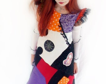 Sally Halloween Costume -  Nightmare Before Christmas, Sally Dress for for Girls Halloween, Nightmare Sally Kids Costumes