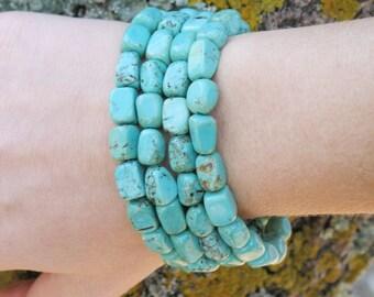 Turquoise Bracelet, four strands