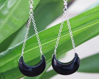 Onyx Chandelier Earrings