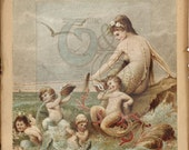 Mermaid Art Antique Reprint 16 x 20