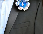 Beer Can wedding Boutonniere Pabst Blue Ribbon Flower