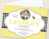 Bumblebee Party Photo Invitations - Professionally printed *or* DIY printable