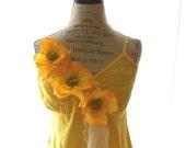 Womens embellished shirt, cottage chic floral shirt, shabby dress, rustic, farmgirl, prairie clothing, autumn