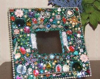 Flower Power Vintage Mosaic Mirror