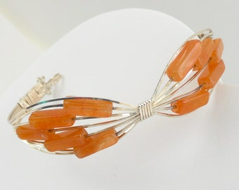 The Deb Carnelian Bracelet with Butterfly Flair