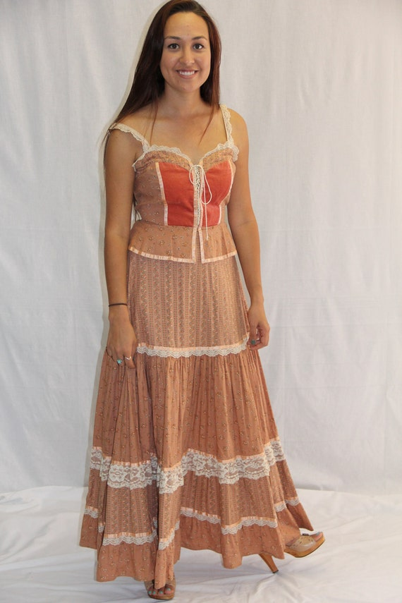 Vintage GUNNE SAX Dress Prairie Frock 1970s Dream