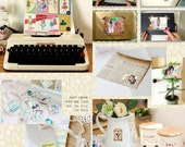 Handmade Stickers CLEARANCE Scrapbook Set Vintage Retro Deco Pack Floral Stamps Ribbons Label 24sheets