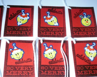 8 So Very Merry Holiday Gift Tags -ooak