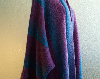 vintage 70s super long chic soft sweater coat  size large